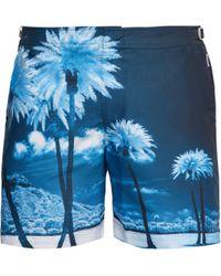 Orlebar Brown - Bulldog Palm Tree Print Swim Shorts - Lyst