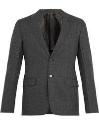 Prada - Prince Of Wales-checked Wool Blazer - Lyst