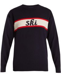 Fusalp - Ski-intarsia Wool-blend Performance Sweater - Lyst