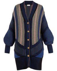 Peter Pilotto - Striped Cotton-blend Cardigan - Lyst