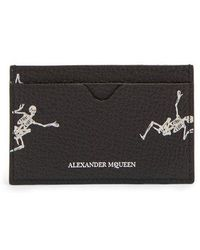 Alexander McQueen - Skeleton-print Leather Cardholder - Lyst