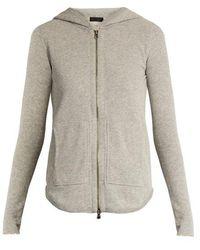 ATM - Zip-front Cotton-blend Hooded Sweatshirt - Lyst