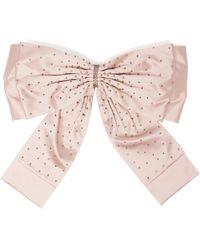 Erdem Crystal Embellished Oversized Bow Belt - Pink