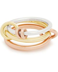 Spinelli Kilcollin - Raneth Silver, Yellow & Rose Gold Ring - Lyst