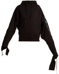 Vetements - Hooded Tape Trimmed Sweatshirt - Lyst