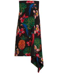 Valentino   Tropical Dream-print Silk Crepe De Chine Dress   Lyst