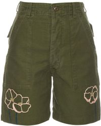 Bliss and Mischief - Field Poppy Cotton Shorts - Lyst