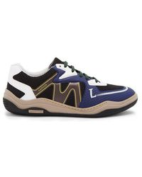 Lanvin - Contrast-panel Low-top Trainers - Lyst