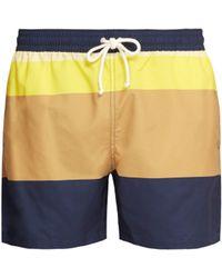 Maison Kitsuné - Colour Block Swim Shorts - Lyst