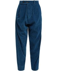 Vivienne Westwood Anglomania - Twisted Corduroy Trousers - Lyst