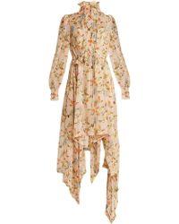 Preen By Thornton Bregazzi - Martha Floral Print Silk Georgette Dress - Lyst