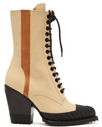 Chloé - Rylee Leather Lace-up Boots - Lyst