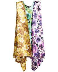 Richard Quinn - Oversized Asymmetric Dress - Lyst