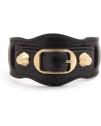 Balenciaga - Classic Metallic Edge Leather Bracelet - Lyst