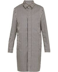 Valentino - Optical Print Single Breasted Coat - Lyst