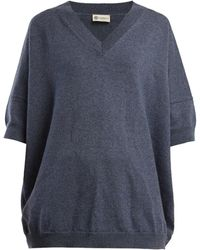 CONNOLLY - V Neck Cashmere And Linen Blend Jumper - Lyst