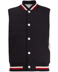 Moncler Gamme Bleu | Waffle-knit Quilted Padded Gilet | Lyst