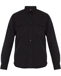12e5ce93 RRL - Double Cargo Pocket Cotton Twill Shirt - Lyst
