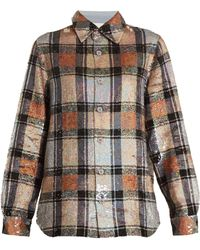 Ashish - Button Down Checked Sequin Embellished Shirt - Lyst