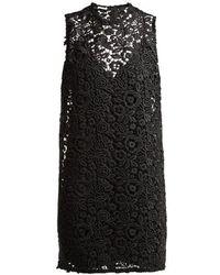 Miu Miu - Round-neck Macrame-lace Dress - Lyst