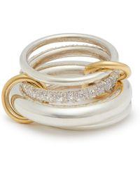 Spinelli Kilcollin - Luna Diamond, Gold & Sterling Silver Ring - Lyst