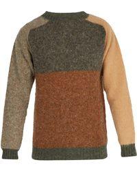 Howlin' By Morrison - Panelled Wool Sweater - Lyst
