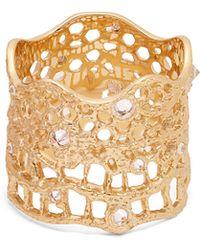 Aurelie Bidermann - Diamond, Aquamarine & Yellow Gold Ring - Lyst