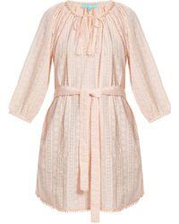 Melissa Odabash - Alicia Waist-tie Embroidered Cotton Dress - Lyst