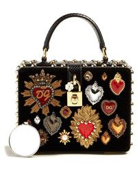 Dolce & Gabbana - Heart-embellished Velvet Box Bag - Lyst