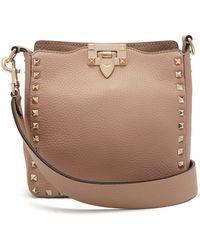 Valentino Rockstud Grained Leather Cross Body Bag