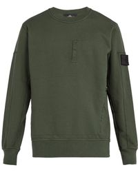 Stone Island - Shadow Project Zip Pocket Cotton Jersey Sweatshirt - Lyst