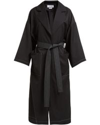 Loewe Belted Twill Overcoat
