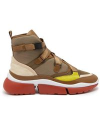 Chloé - Sonnie Raised-sole High-top Trainers - Lyst