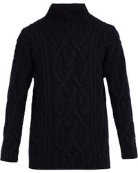 CONNOLLY - Chunky High Neck Wool Blend Jumper - Lyst