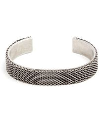 Title Of Work - Macro Hard Sterling-silver Cuff - Lyst