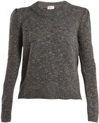 Isa Arfen - Speckled Wool Blend Sweater - Lyst