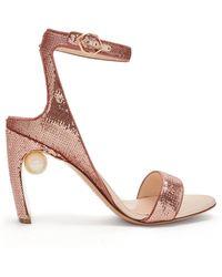 Nicholas Kirkwood - Lola Faux Pearl Sequin Embellished Sandals - Lyst