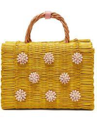 Heimat Atlantica - Celeste Seashell-embellished Basket Bag - Lyst