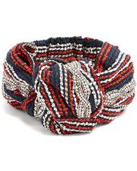 Gucci   Crystal-embellished Striped Headband   Lyst
