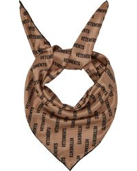 Vetements - Monogram Silk Scarf - Lyst