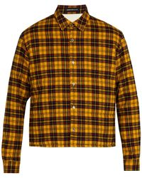 Undercover - Checked Padded Cotton Overshirt - Lyst