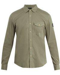 Belstaff - Steadway Single-cuff Stretch Cotton-blend Shirt - Lyst