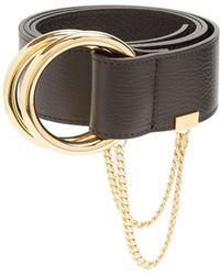 Chloé - Gold-hoop Leather Belt - Lyst