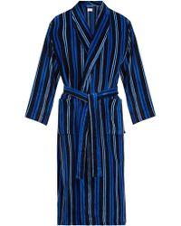 Derek Rose - Aston Striped Cotton Robe - Lyst