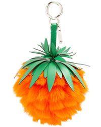 Fendi - Pineapple Leather And Fur Bag Charm - Lyst