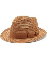 Borsalino - Ribbon-embellished Panama Hat - Lyst