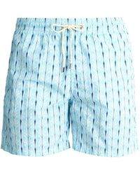 Le Sirenuse - Plait Print Swim Shorts - Lyst