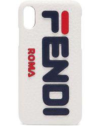 Fendi - Mania Logo Iphone X Case - Lyst