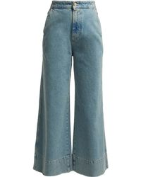 Loewe - High Rise Wide Leg Jeans - Lyst