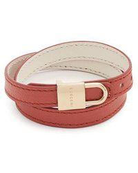 Buscemi Wraparound leather bracelet foWDGRlI
